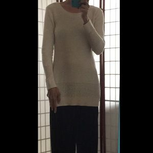 Gap cotton knit Tunic Sweater in off white